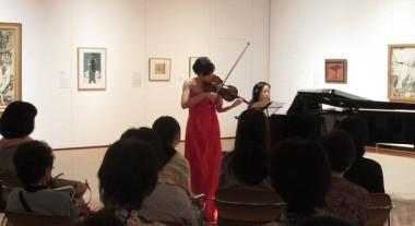 加藤礼子さん(ヴァイオリン),中村哲子さん(ピアノ)